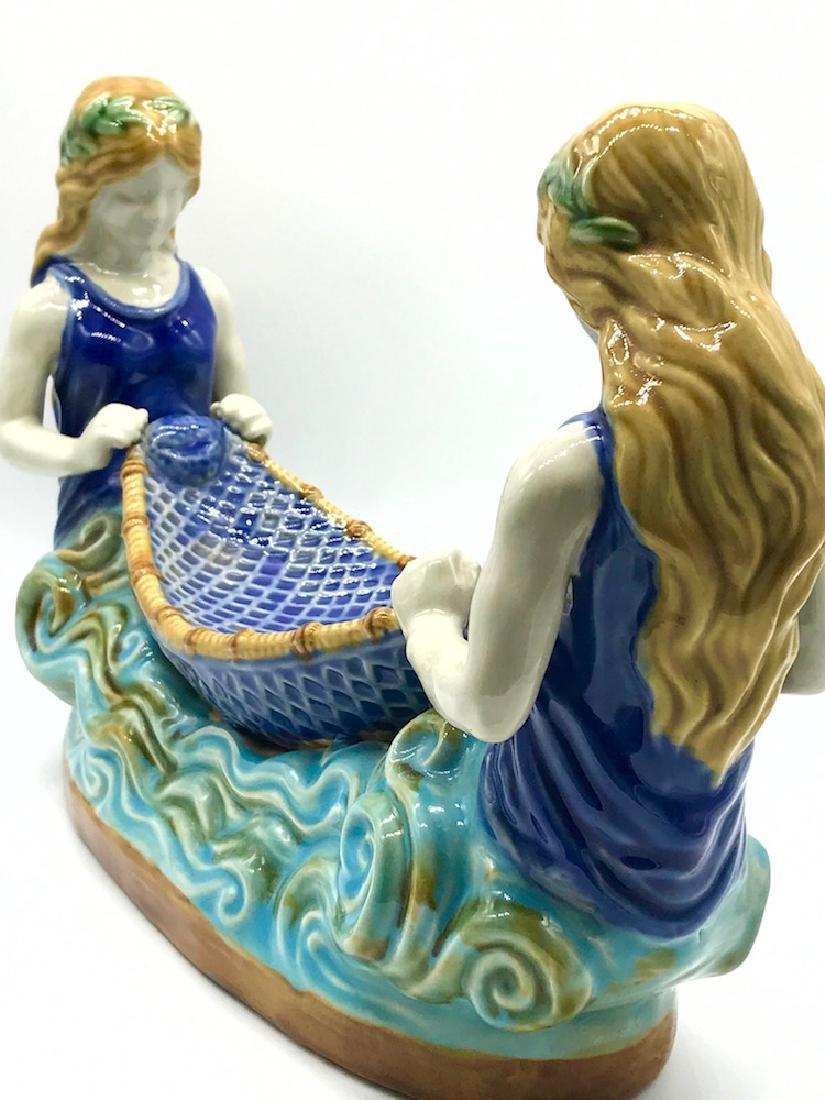 Mermaid, Boat Porcelain, Handpainted
