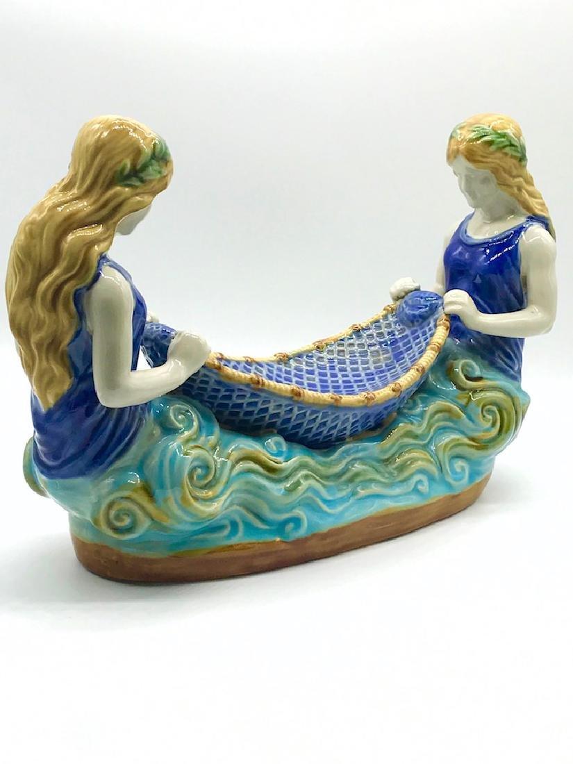 Mermaid, Boat Porcelain, Handpainted - 2