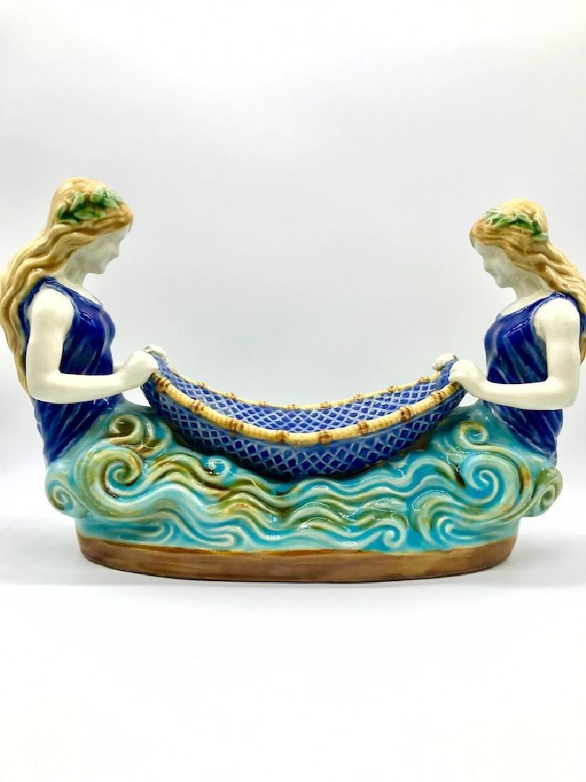 Mermaid, Boat Porcelain, Handpainted - 3