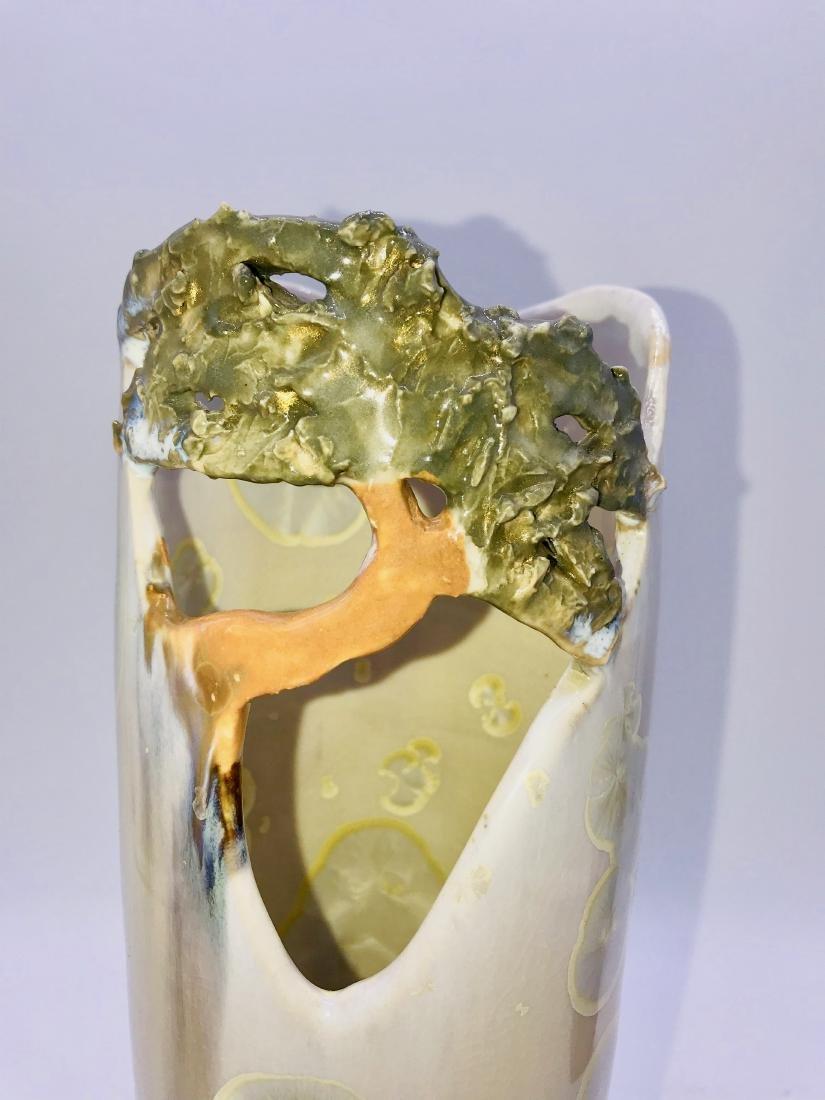 Shaja, Tree of Life Vase Porcelain, 9 x 3.5