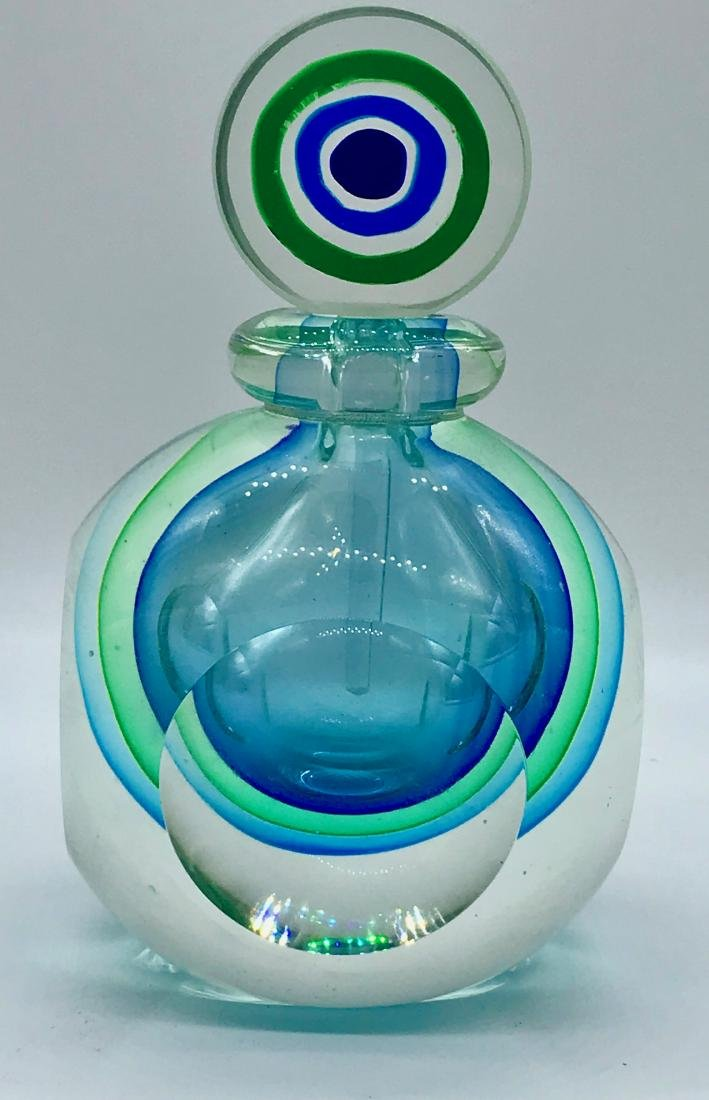 Retro, Purfume Bottle or Paperweight, Handpainted