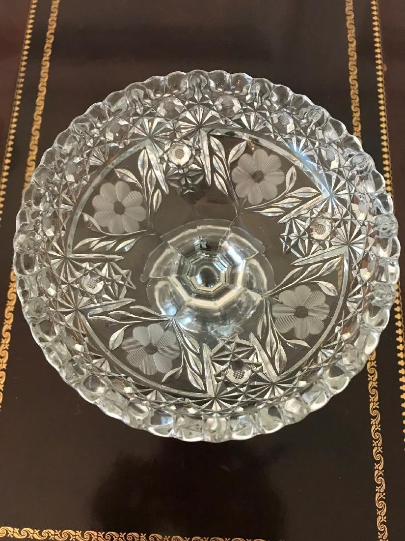 Floral Footed Candy Dish, 5.5 x 6, Heavy Quality - 2