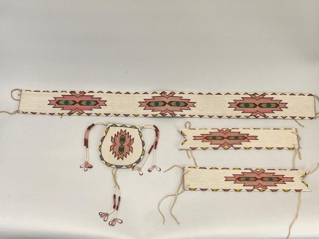 Vintage Sioux Navajo Indian, Set of matching Belts and
