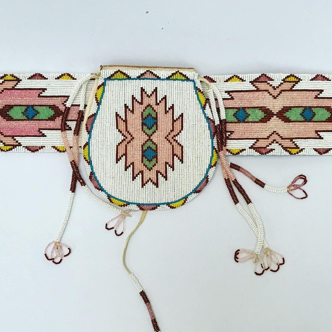 Vintage Sioux Navajo Indian, Set of matching Belts and - 2