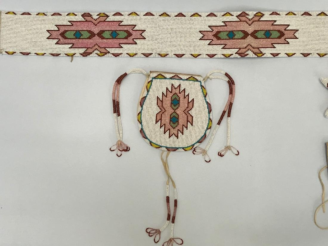 Vintage Sioux Navajo Indian, Set of matching Belts and - 3