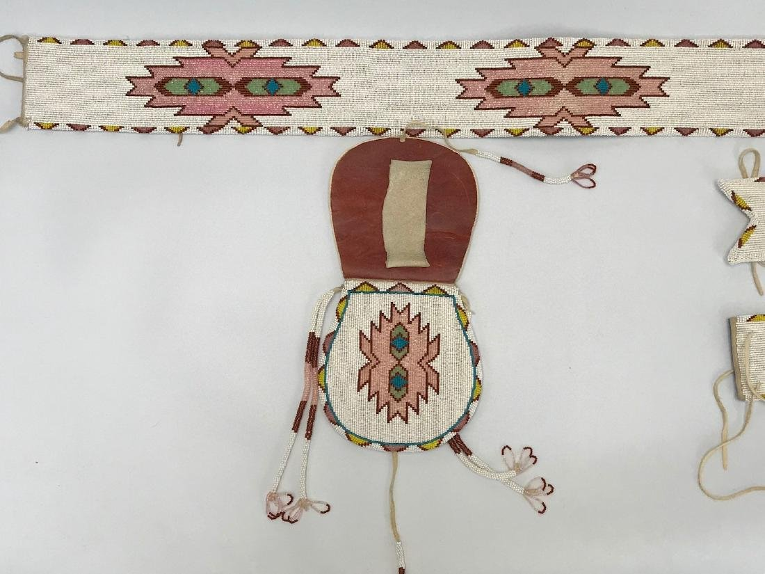 Vintage Sioux Navajo Indian, Set of matching Belts and - 4