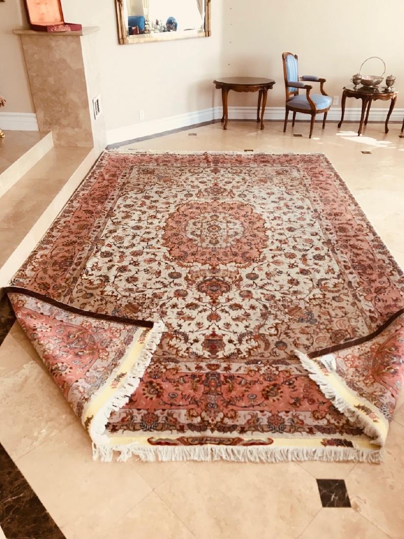 "Nain Carpet 147 x 98"", Silk and Wool Pile, Persian 1990"