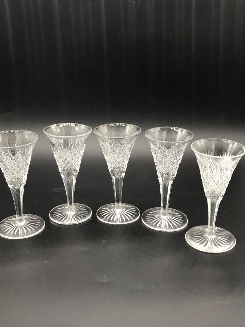 "Waterford, 5 Pc Liquor Glasses 4.5 x 2"""