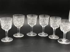 Waterford, 6 Pc Liquor Glasses 4 x 2""