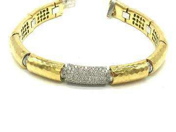 Diamond 2.40 Ct, 18 karat 2 Ounce, Custom VS Bracelet