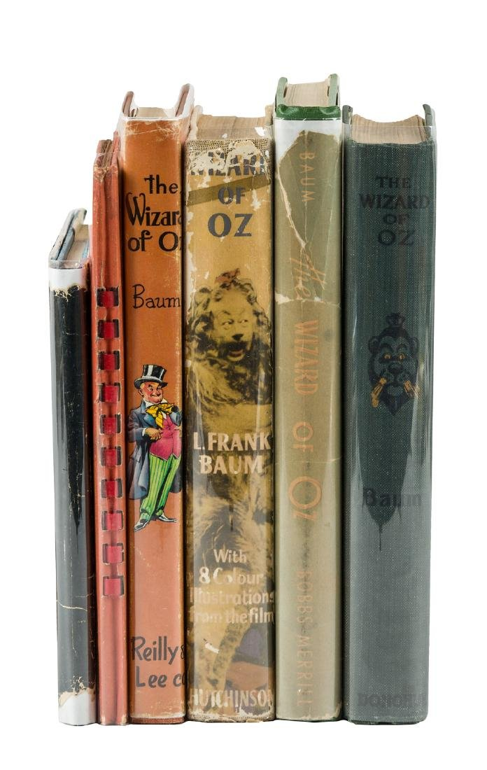 Six different editions of The Wizard of Oz