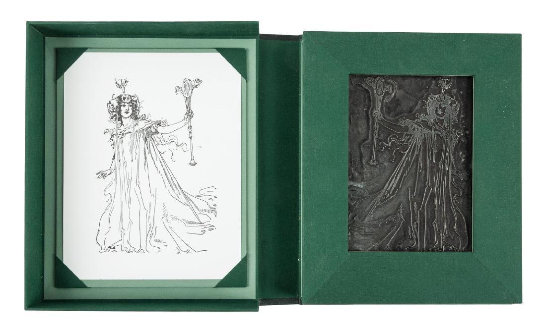 Printing plate of John R. Neill Oz illustration