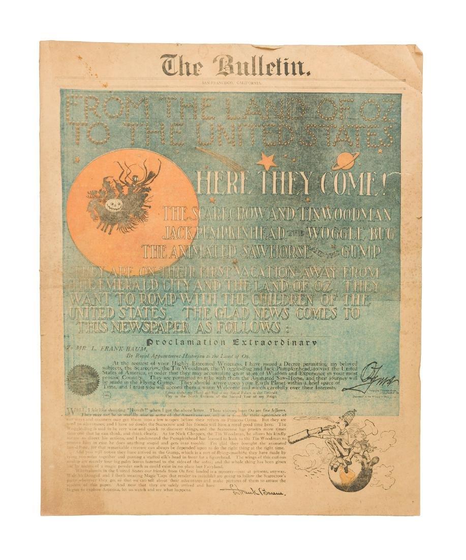 Rare Oz in San Francisco Bulletin 1904