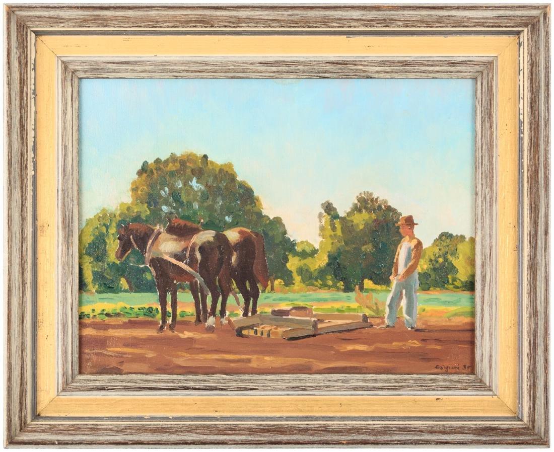 Oscar Galgiani oil painting