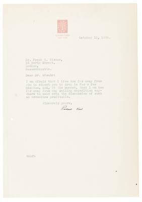 Letter from illustrator Rockwell Kent