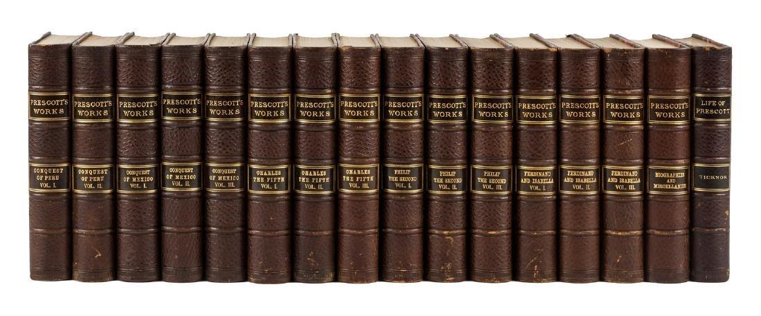 Works of W.H. Prescott nicely bound
