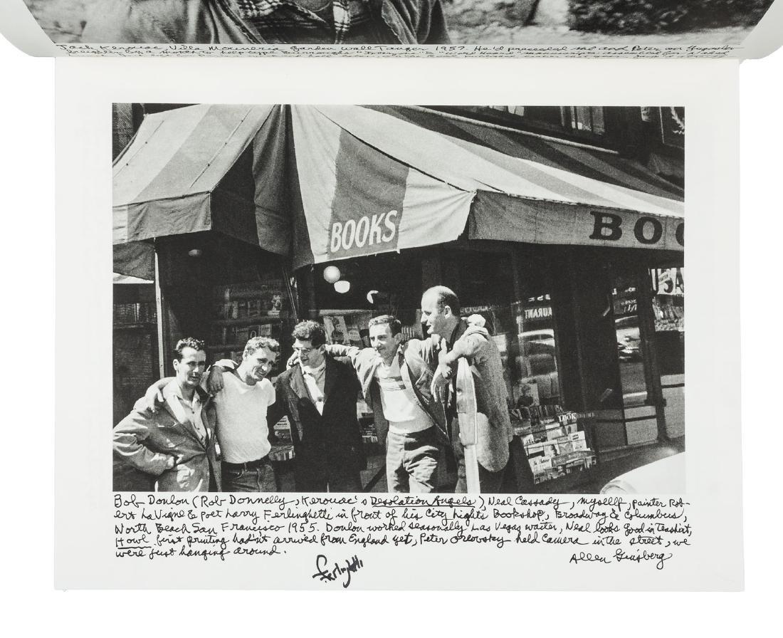 Ginsberg Photographs - signed by Ferlinghetti