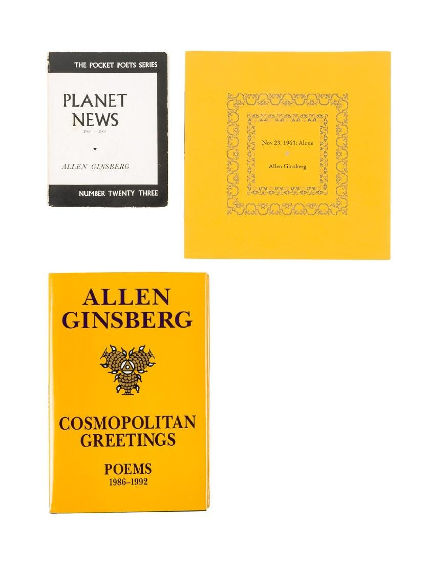 Three works by Allen Ginsberg - two signed
