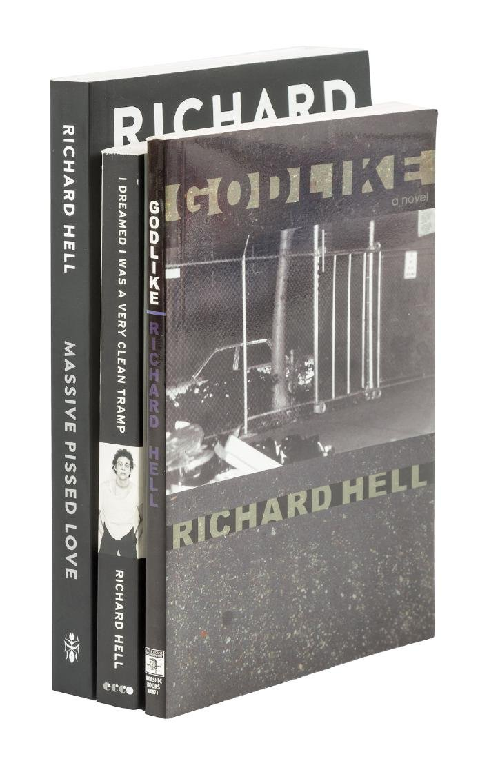 Three signed works by Richard Hell