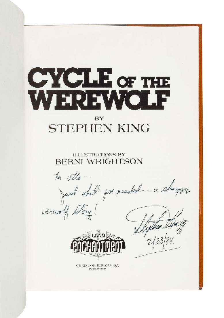 Stephen King Cycle of the Werewolf inscribed - 2