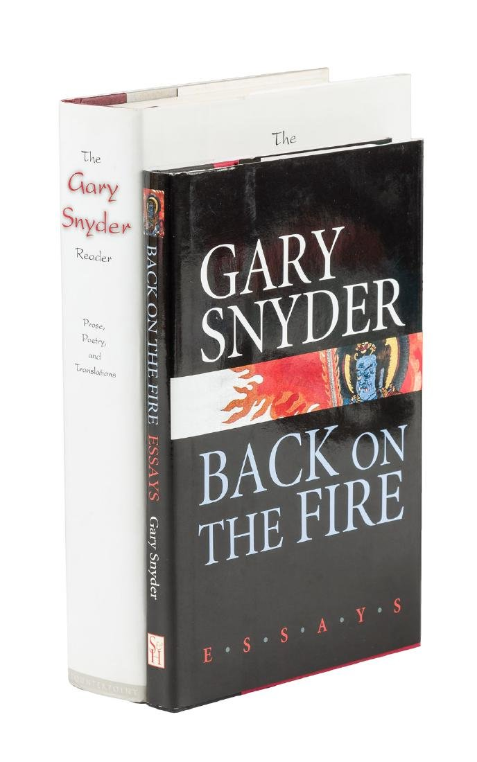 Two signed works by Gary Snyder