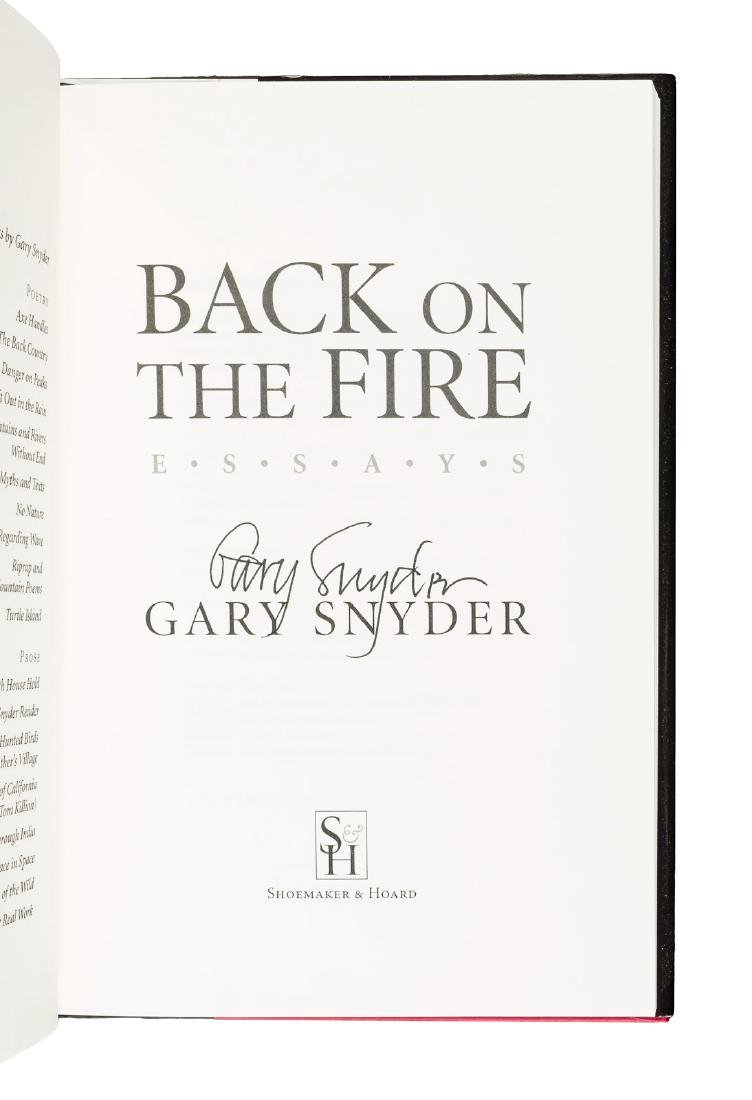 Two signed works by Gary Snyder - 2