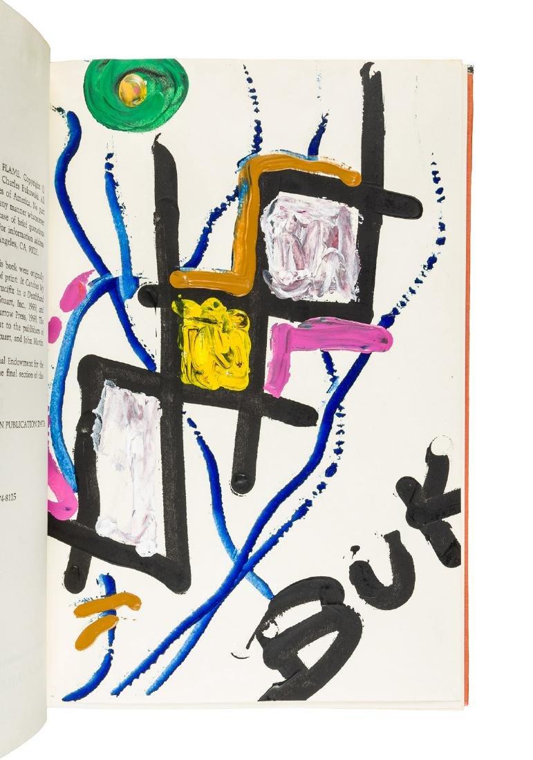 Bukowski Burning in Water Drowning Flame w/painting
