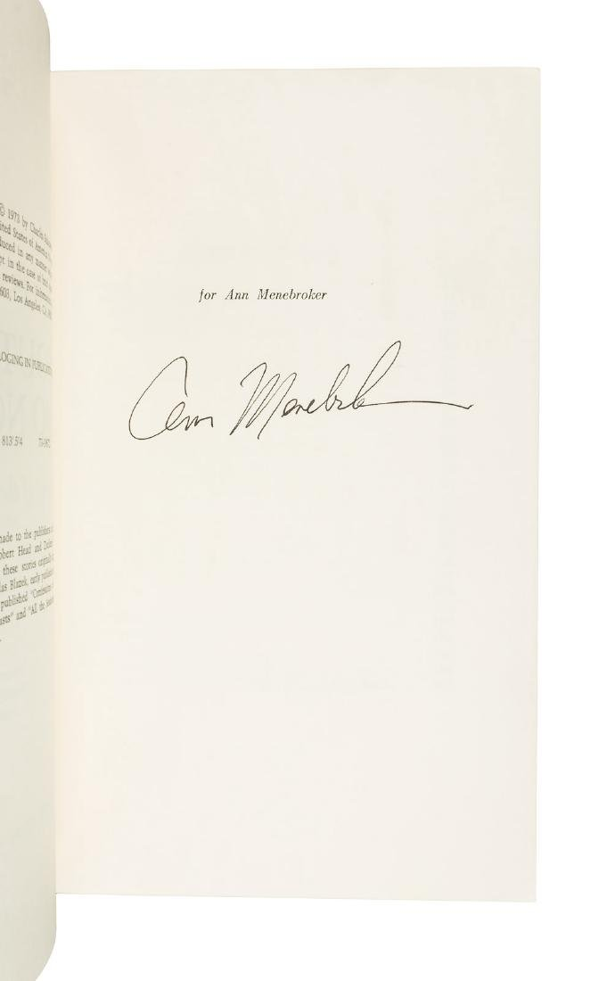 Bukowski, South of No North signed by Ann Menebroker. - 2
