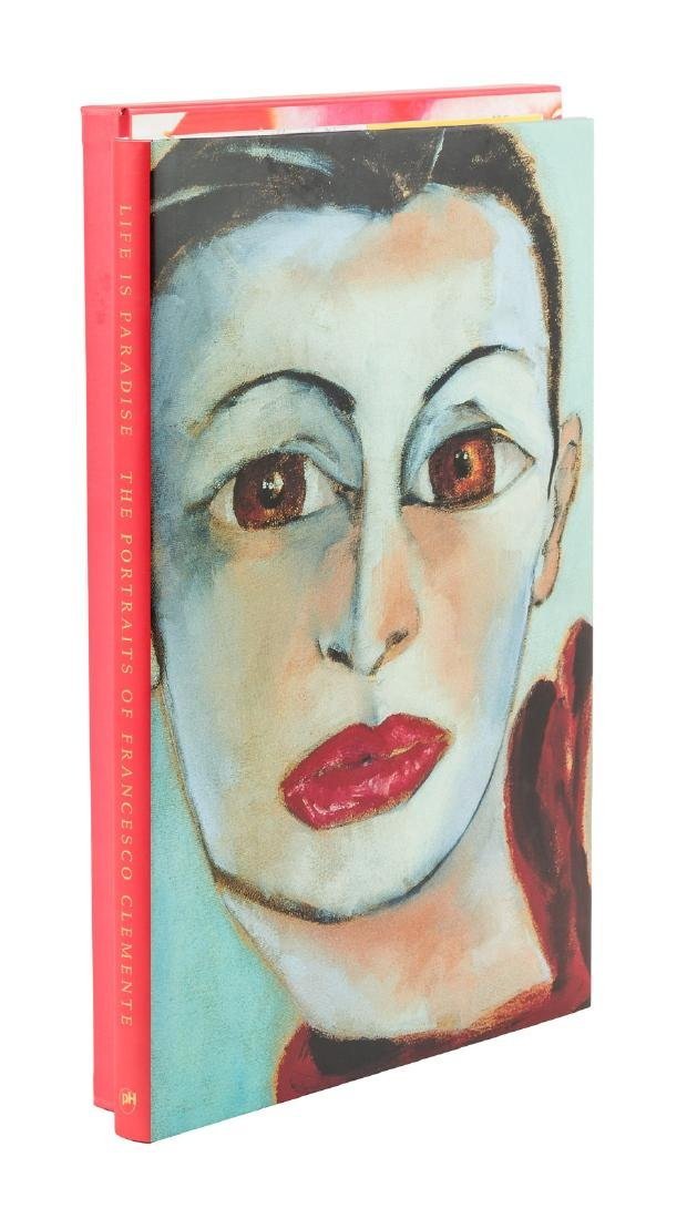 Portraits of Francesco Clemente - with original signed