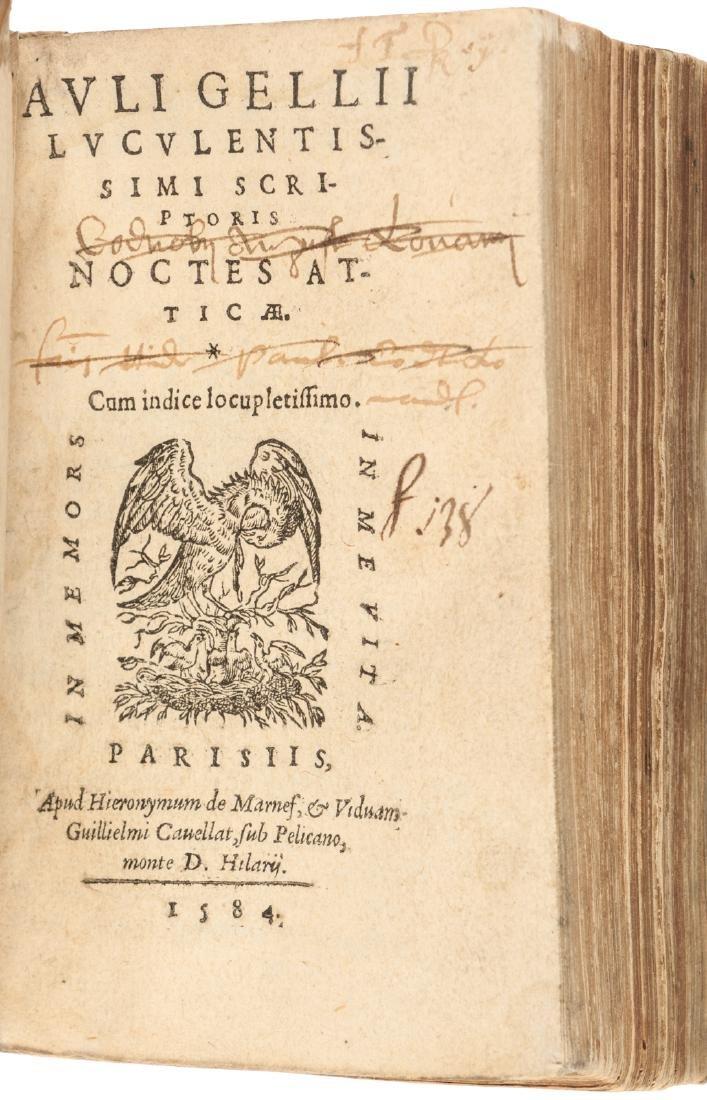 Aulus Gellius' Attic Nights 1564 in Latin