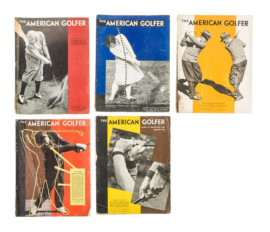 Six issues of the American Golfer Magazine 1930s