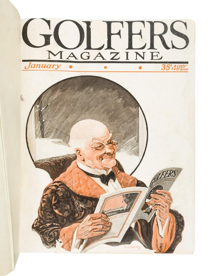 8 bound volumes of American Golfer Magazine