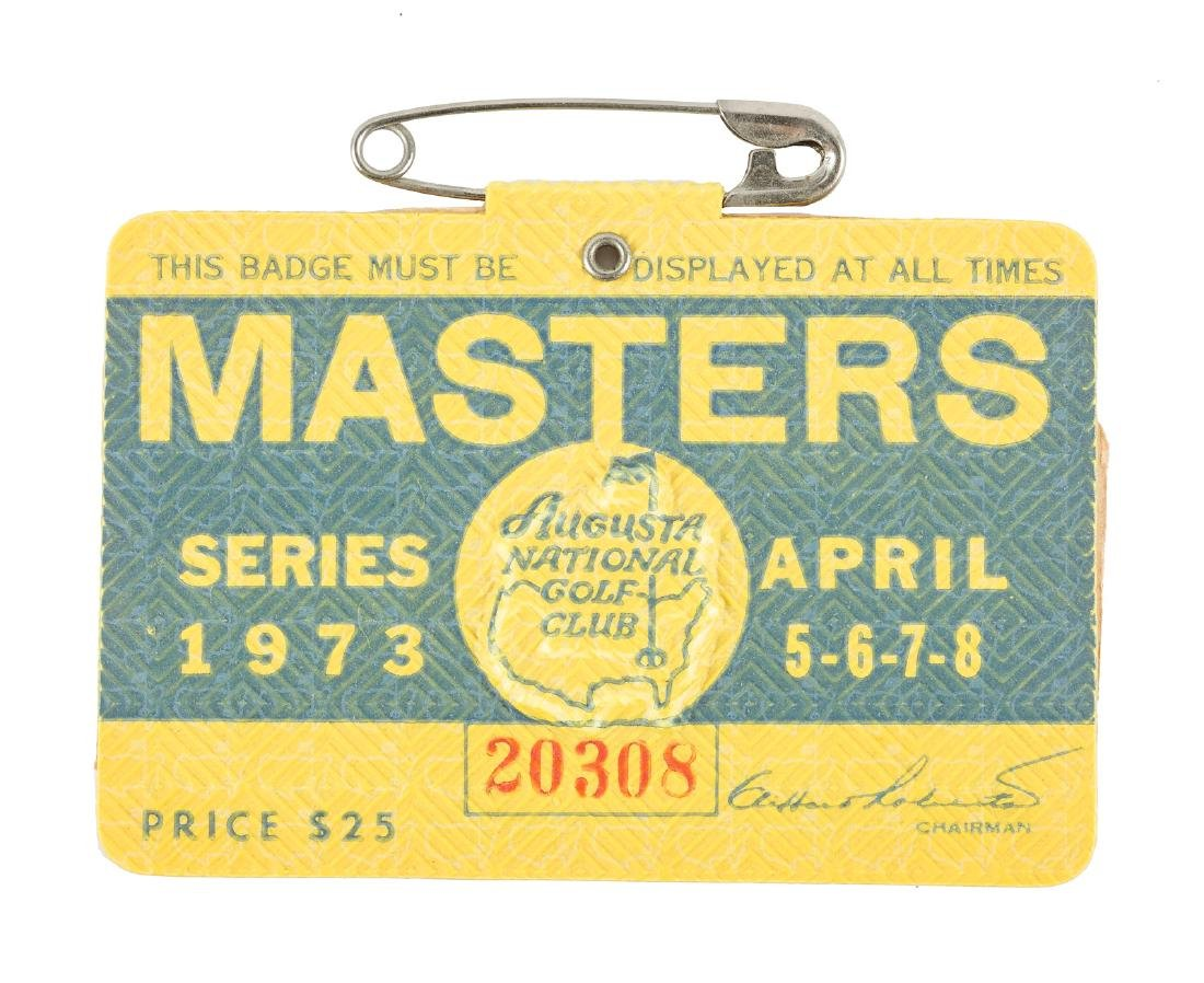 1973 Masters Tournament Badge Pin