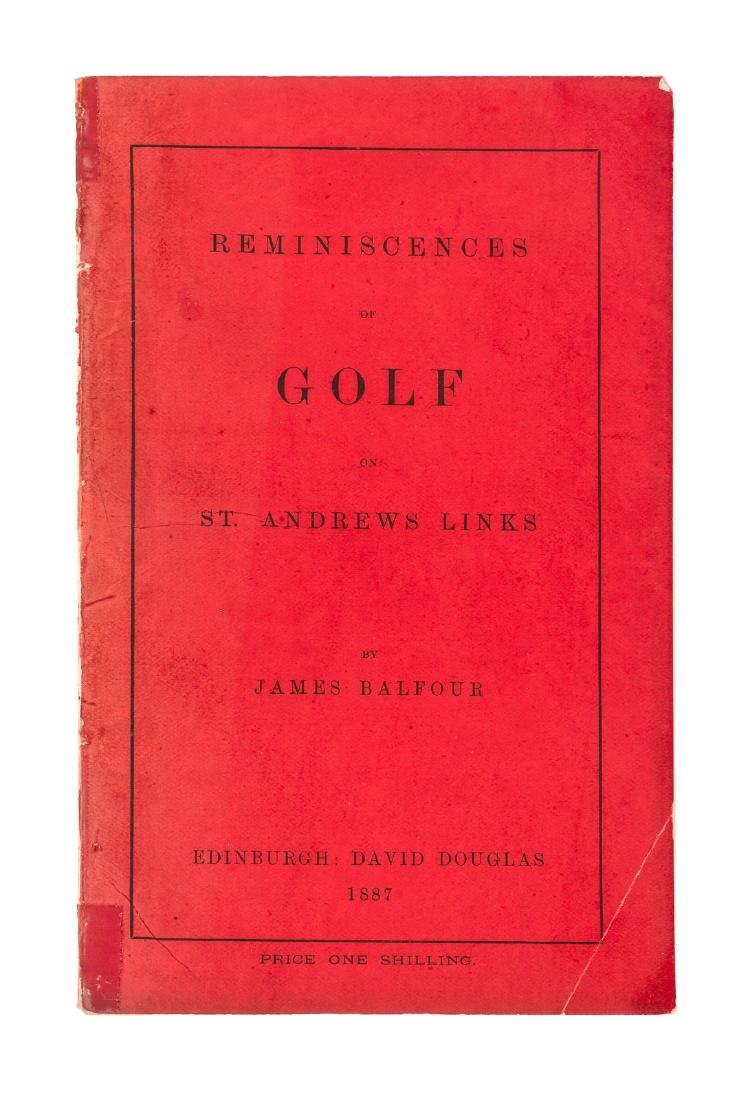 Balfour's Reminiscences of Golf 1887 1st in wraps