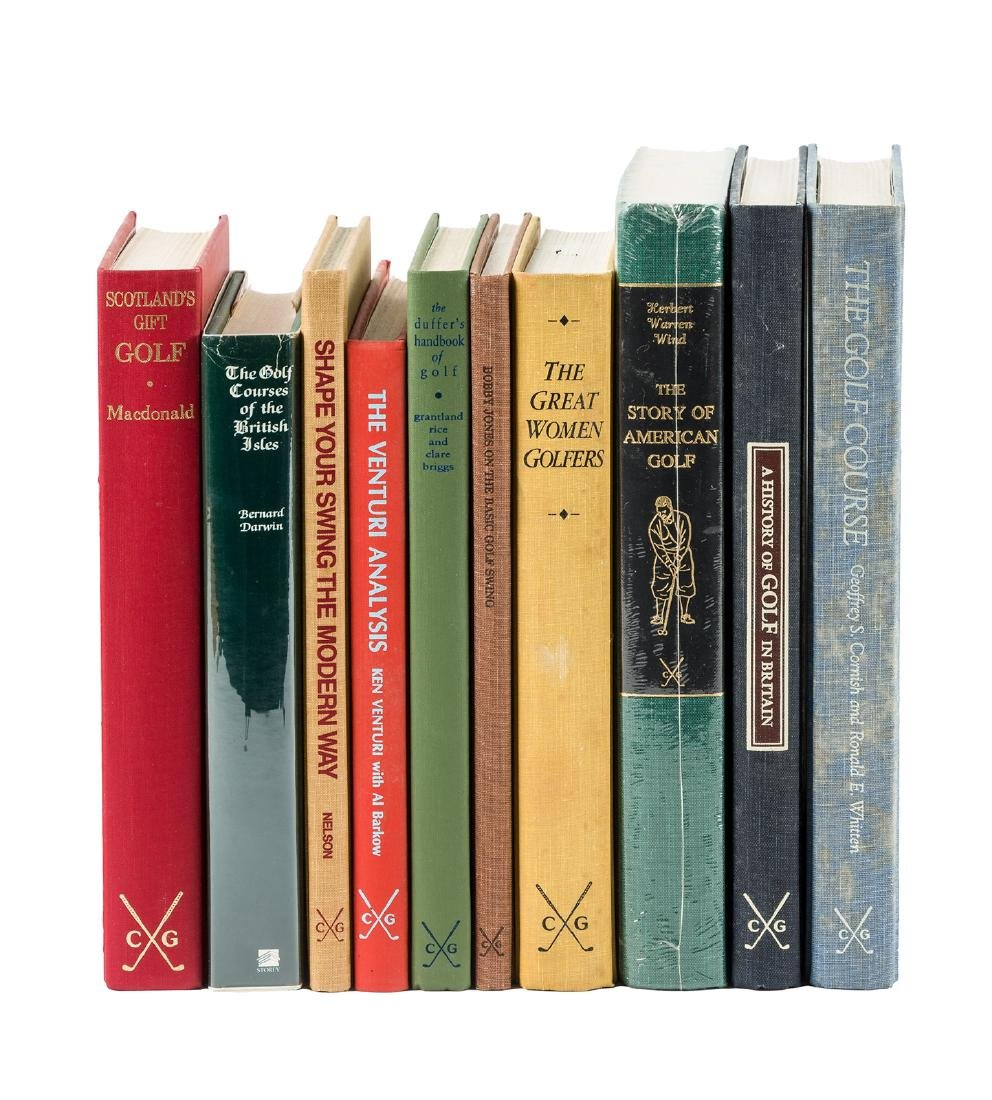 10 volumes from the Classics of Golf