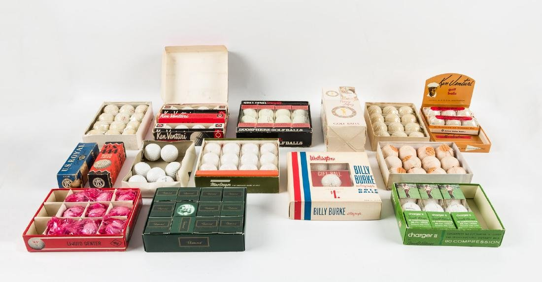 Collection of vintage golf balls