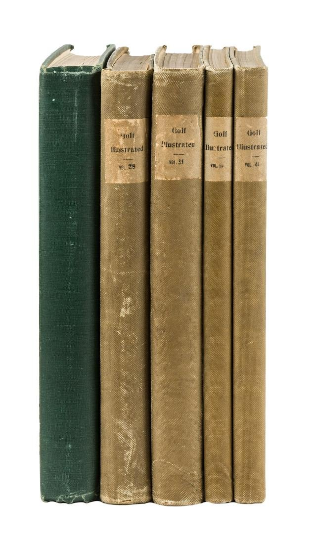 Five volumes of Golf Illustrated  1926-1934