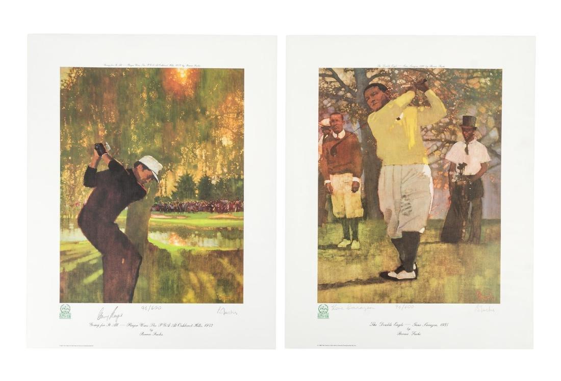 Signed prints of Golfing legends