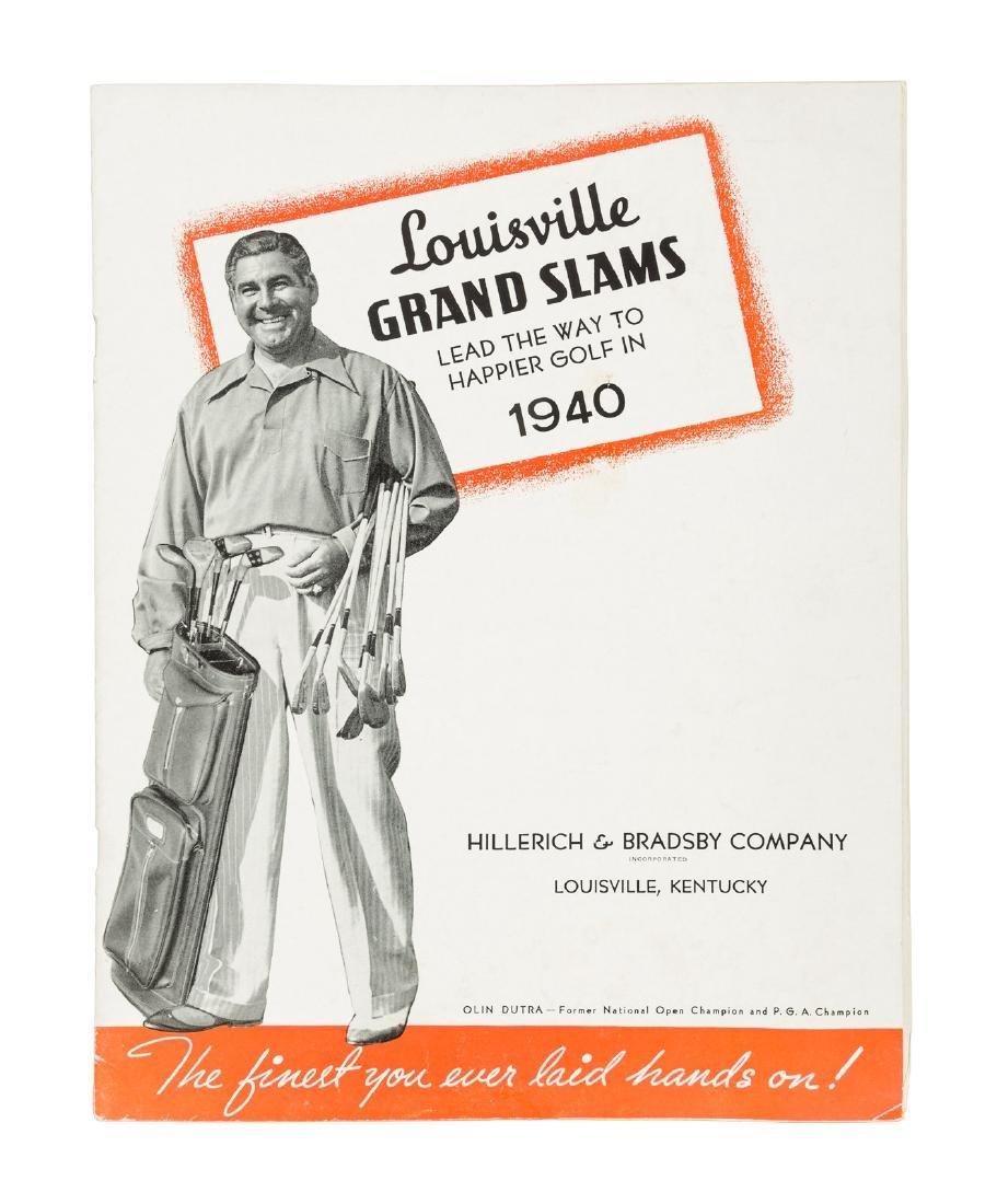 Catalog for 1940 Louisville Grand Slams golf clubs
