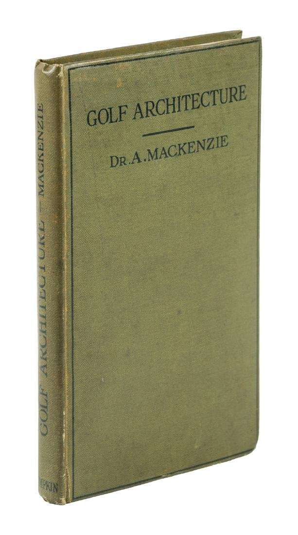 Golf Architecture 1920 1st ed by Dr. A. Mackenzie