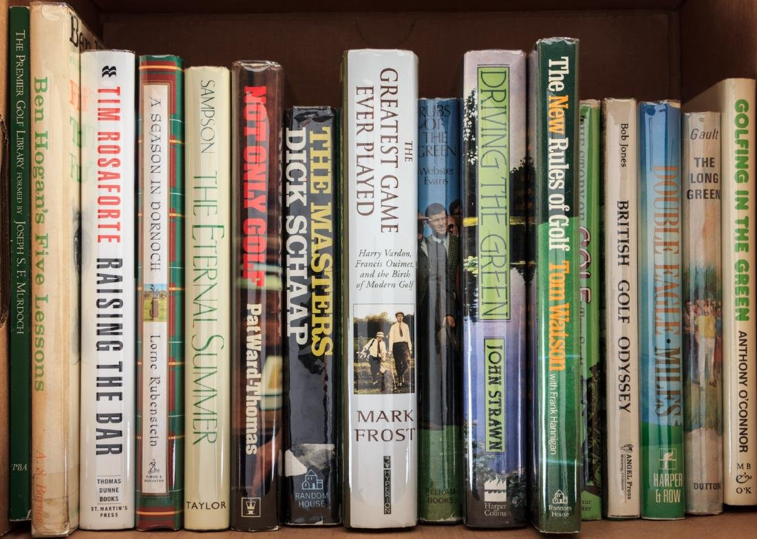 Sixteen volumes of golf literature