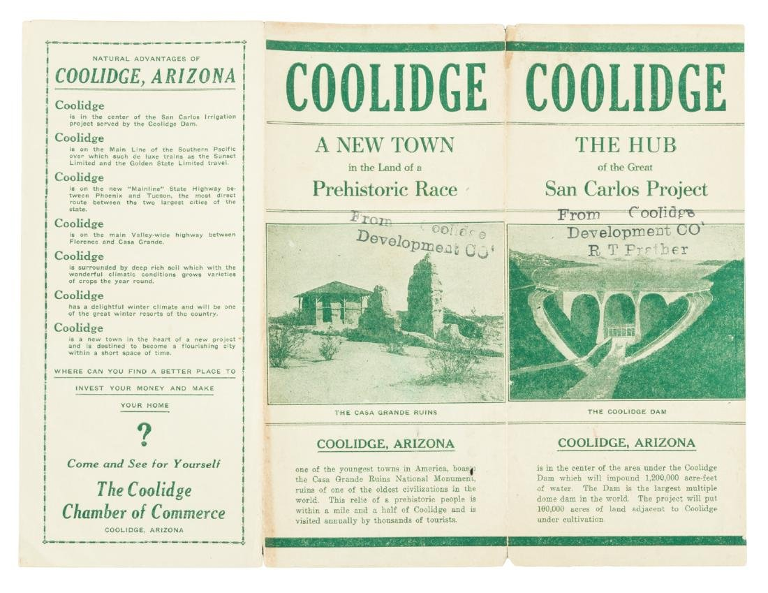 Rare promo for Coolidge, Arizona