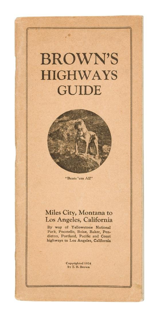 Auto guide from Montana to L.A. 1924