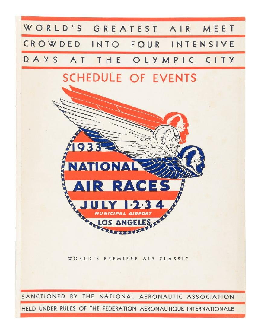 Schedule of events for 1933 National Air Races L.A.