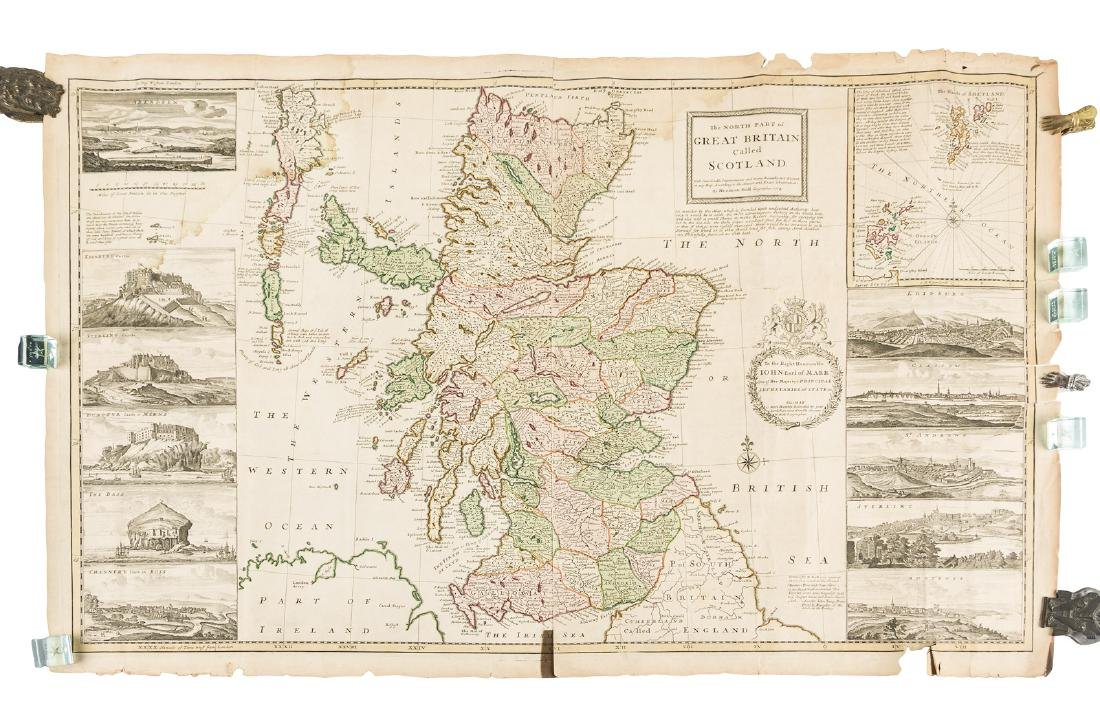 Moll maps of England and Scotland