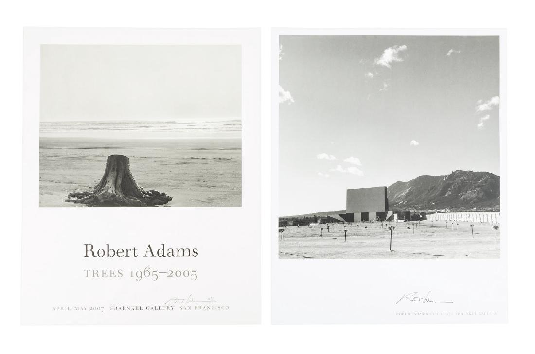 Five promotional posters, 2 signed  by Robert Adams