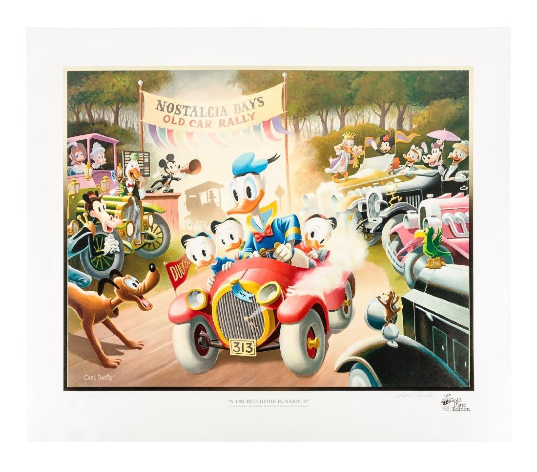 Carl Barks Donald Duck lithograph 1934 Belchfire