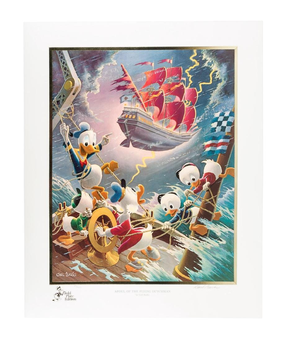 Carl Barks Donald Duck lithograph Afoul of the Flying