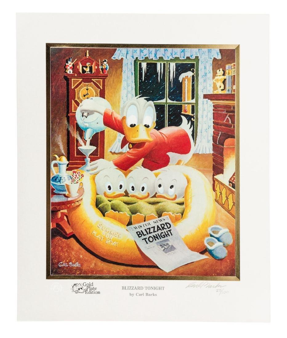 Carl Barks Donald Duck lithograph Blizzard Tonight