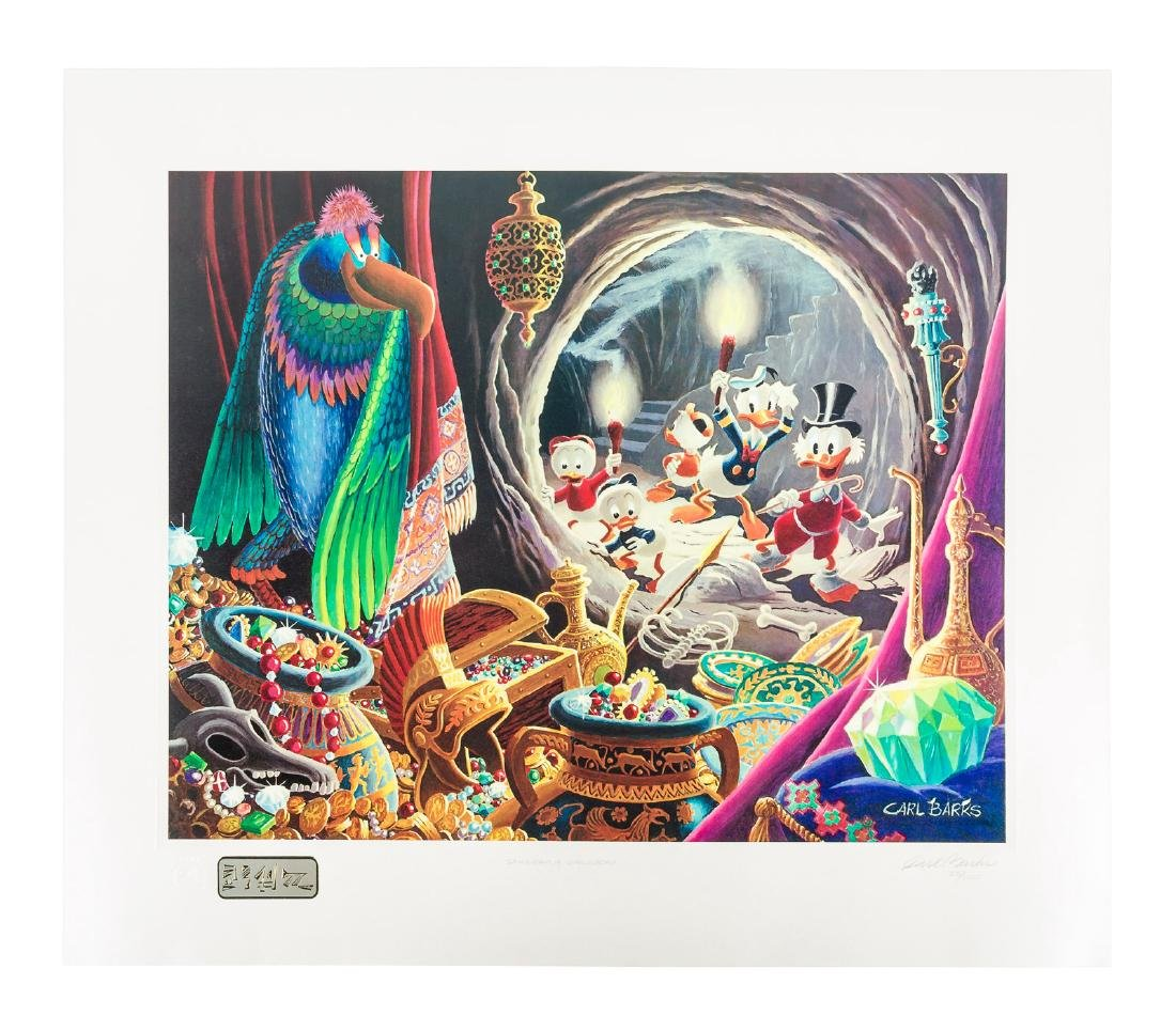 Carl Barks Donald Duck lithograph Dangerous Discovery